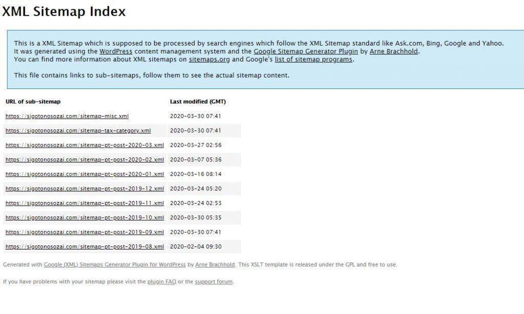 XMLサイトマップは検索エンジンのクローラビリティ向上用のファイル